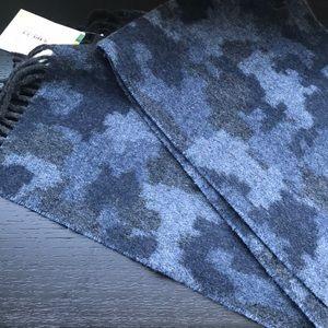 NWT Paul Smith blue camo scarf